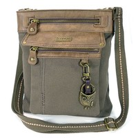 Gemini Xbody Owl Bag in Olive By Chala