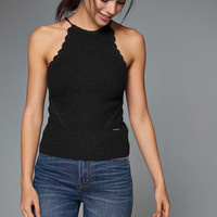High Neck Knit Tank
