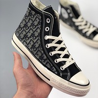 Bunchsun DIOR X CONVERSE 1970S canvas high-top men and women wild sneakers shoes