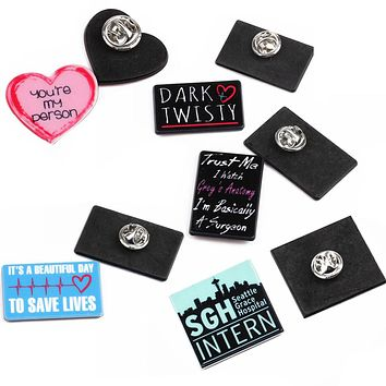 Grey's Anatomy 5-Pack of Lapel Pins