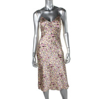 Catherine Malandrino Womens Silk Printed Slip Dress