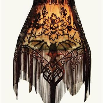 GOTHIC 3-WAY SLIPCOVER LACE (SKULL)