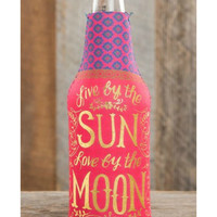 Natural Life Live By The Sun Bottle Koozie