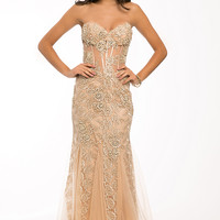 Strapless corset lace gown 91150 - Prom Dresses