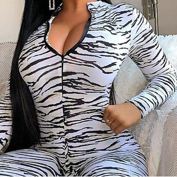 Explosive style hot sale women's printed high-waist tight-fitting hip jumpsuit