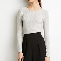 Heathered Rib Knit Top