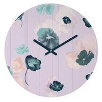 Khristian A Howell Mademoiselle In Lavender Round Clock