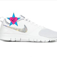 Bling out Nikes Bedazzled White Women's Nike Flex Essential
