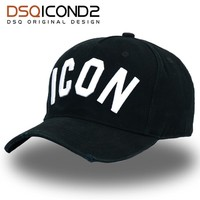 Trendy Winter Jacket DSQICOND2 Brand DSQ Casquette Hats Solid Pattern Hats Letters ICON Casquette Dad Hip Hop Baseball Cap Snapback Cap for Man Woman AT_92_12