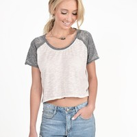 Baseball Basics Cropped Tee