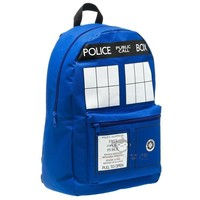 Free shipping Doctor Who Tardis cartoon student school bag work bags men Police Box Backpacks for gift