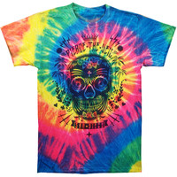Pierce The Veil Men's  Sugar Skull Tie Dye T-shirt Tie Dye