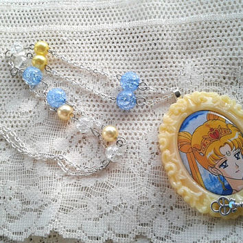 Sailor Moon Necklace - Neo-Queen Serenity - Pastel Goth - Sailor Scout Jewelry - Sailo Moon Crystal