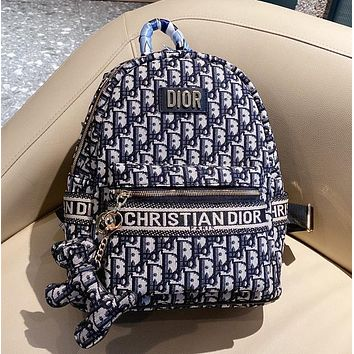 Dior new backpack retro logo ladies and men's backpack
