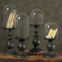 Cooper Pedestal with Glass Dome