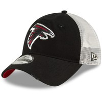 Men's Atlanta Falcons New Era Black Stated Back Trucker 9TWENTY Adjustable Hat