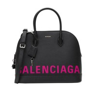 Hot Pink Logo Handbag by Balenciaga