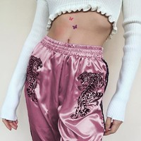 Women's Fashion Winter Patchwork High Waist Skinny Pants [167762198543]