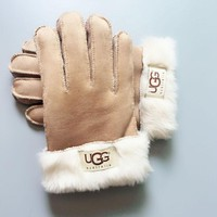 UGG Winter Wool Fur Gloves