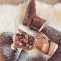 UGG:: bow leather boots boots in tube Boots
