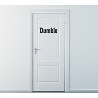 Dumble Door Harry Potter Wall Decal