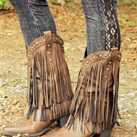 Four Strong Winds Fringe Boots - Brown