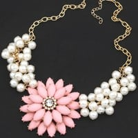 Sparkle Faux Pearl Necklace - OASAP.com