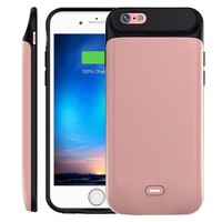 iPhone 6 Plus/ 6s Plus Battery Case 7200mAh, MAXBEAR Rechargeable External Battery Portable Power Charger Protective Charging Case for Apple iPhone 6+/6s+ (5.5 Inch)-Rose Gold