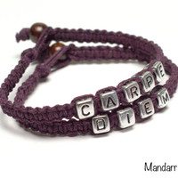 Carpe Diem, Seize the Day, Inspirational Jewelry, Gifts for Her, Quote of the Day