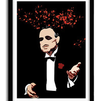 The Godfather, Classic Movie Poster, Christmas Gift for boyfriend, Housewarming gift, Gift for him, Geekry A3 Poster