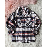 Lumber Jill Jacket Shirt in Navy