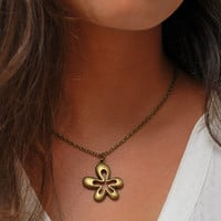 Flower pendant, Simple jewelry, Love necklace, Minimalist necklace, Everyday pendant, Delicate Cheap jewelry, Christmas gift, Gift idea.