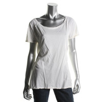 Chaser Womens Cotton Cut-Out Back T-Shirt