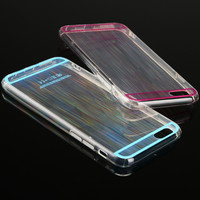 "New! Color Intrigue Laser Brushed Clear phone cases for iphone 6 6S 4.7"" / 6 6S Plus 5.5"""