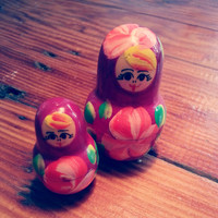 Vintage Russian Doll, Matroshka, Matryoshka, Home Decor Ideas, Gift for her, Gift for him, Collectible, Vintage Doll Figurine, Kitsch, Boho