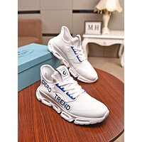 prada men fashion boots fashionable casual leather breathable sneakers running shoes 132
