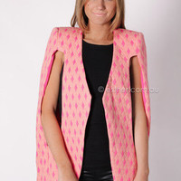 cameo anchorage cape - pink/peach at Esther Boutique