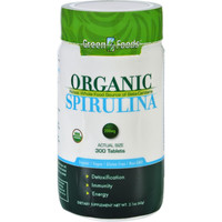 Green Foods Spirulina - Organic - 200 Mg - 300 Tablets