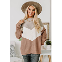 Let's Take Some Chances Color Block Sweater