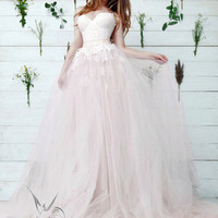 Princess wedding dress LARIA, , wedding dress, blush wedding dress, the princess bride, princess gown, pink wedding dress, bridal dress