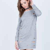 Holey Sweater Dress