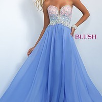 Strapless Floor Length Prom Dress by Blush BL-11097