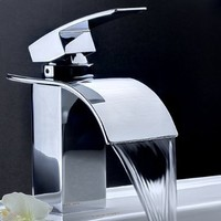 LightInTheBox Single Handle Waterfall Centerset Lavatory Faucet with Curved Spout, Chrome:Amazon:Home Improvement