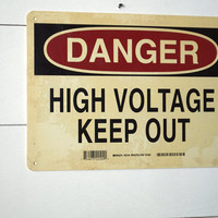 Industrial Danger Keep Out Wall Sign