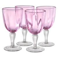 Artland Inc. Kassie Pink Goblet Glasses - Set of 4 | www.hayneedle.com
