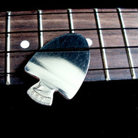 Unique Guitar Pick Made out of USA Quarter -- 1997 Arrowhead Guitar Pick -- OOAK