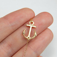Anchor anklet, gold anchor charm, gold anklet, anchor ankle bracelet, charm anklet, nautic anklet, nautical anklet, nautic jewelry, gift