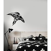 Vinyl Wall Decal Gothic Celtic Ornament Raven Bird Crow Stickers (3746ig)