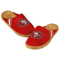 49ers Jersey Mesh SLIDE SLIPPERS New -   - San Francisco 49ers