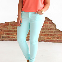 The Bright Side Skinny Jean - Light Blue